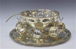 (11) MEXICAN STERLING SILVER PUNCH BOWL SET