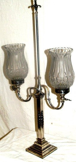 5: SILVER BANQUET LAMP SPAIN