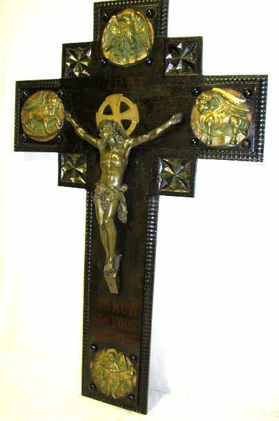 11: ANTIQUE RELIGIOUS CRUCIFIX SPAIN