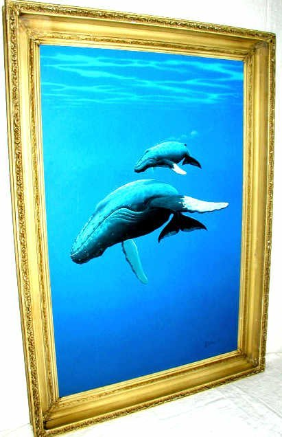 43: ORIGINAL WHALE PAINTING DON McMICHAEL - 2