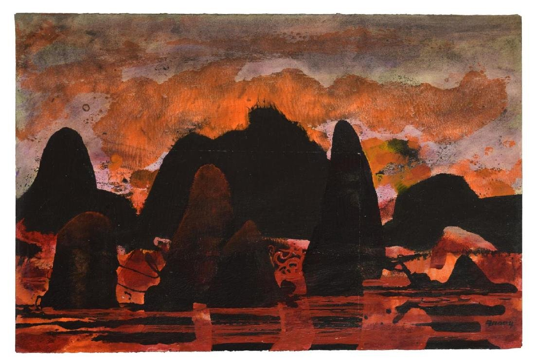 "MICHAEL FRARY (1918-2005), ""INFERNO"" PAINTING"