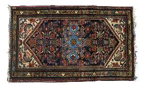 "PERSIAN HAMADAN HAND-WOVEN RUG, APPRX. 2'7"" x 4'2"""