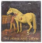 ENGLISH IRON THE HORSE AND GROOM PUB SIGN