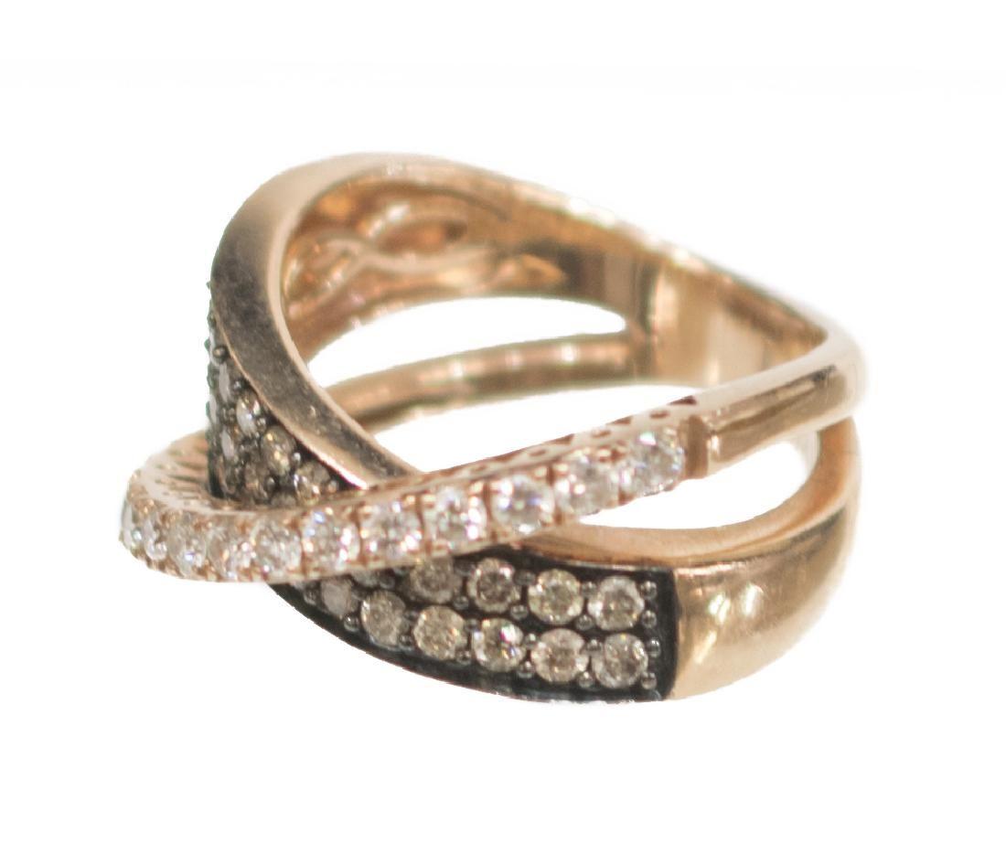 LADIES LE VIAN MULTI-DIAMOND 14KT GOLD ESTATE RING