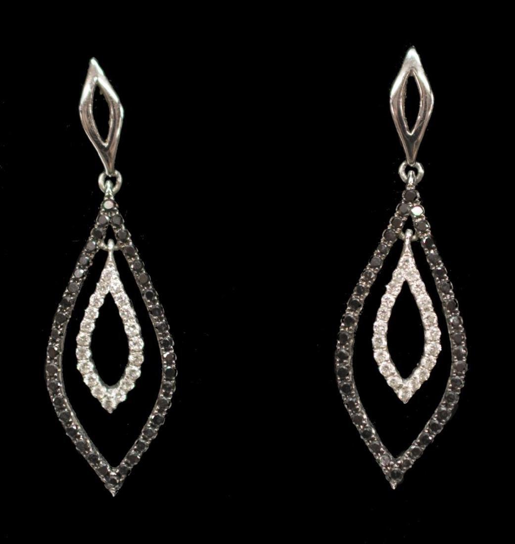 (PR) ESTATE EFFY BH WHITE GOLD & DIAMOND EARRINGS