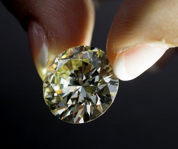 ESTATE GIA 16.17 CARAT FANCY YELLOW DIAMOND