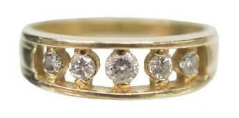 LADIES ESTATE 14KT GOLD  DIAMOND BAND RING
