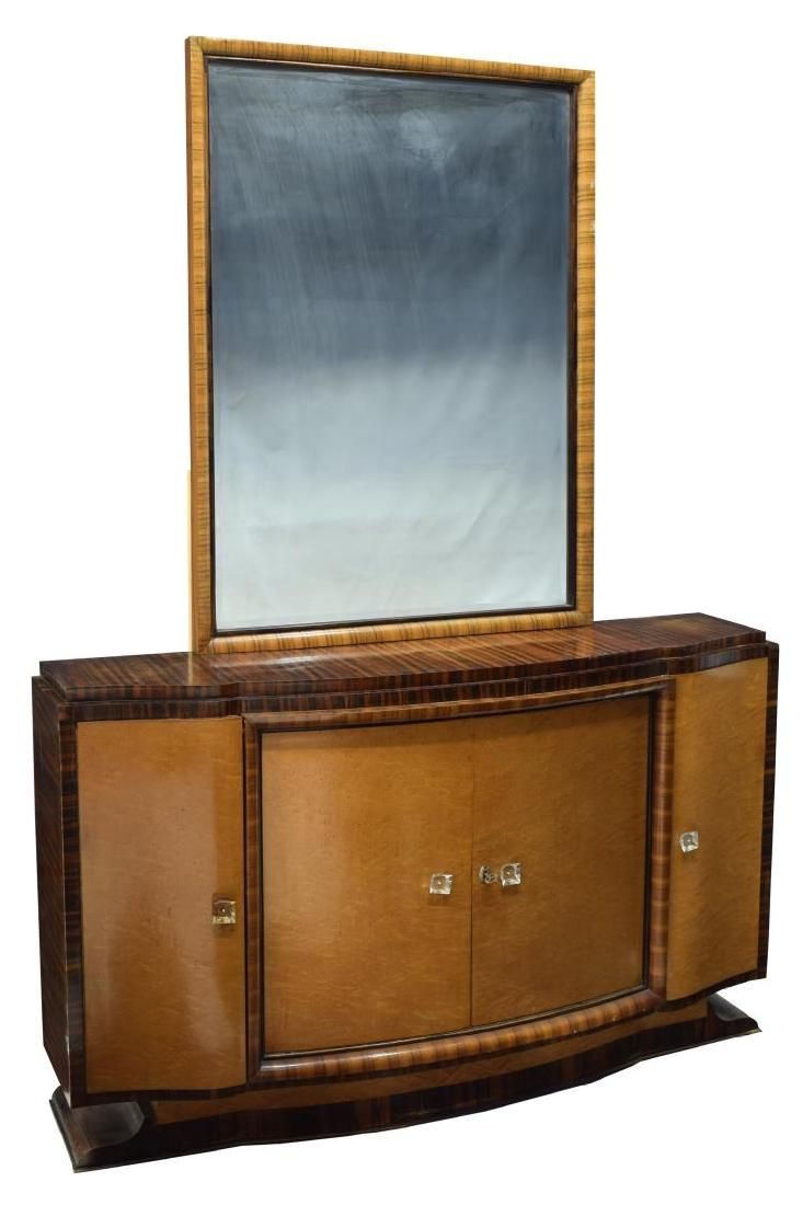 FRENCH ART DECO MIRRORED CABINET