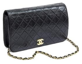 Chanel Quilted Black Leather Timeless Flap