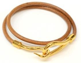 Hermes Jumbo Double Tour Leather Cord Bracelet