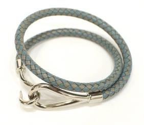 Hermes Jumbo Double Tour Braided Leather Bracelet