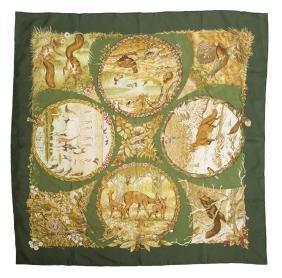 Hermes 'les Quatre Saisons' Silk Twill Scarf