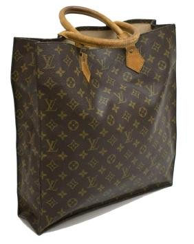 Louis Vuitton 'sac Plat' Monogram Canvas Handbag
