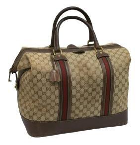 Large Gucci Monogram Canvas Doctor Bag