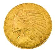 US 5 DOLLAR INDIAN HEAD GOLD COIN 1915