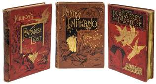 3 GUSTAVE DORE ILLUSTRATED DANTE  MILTON BOOKS