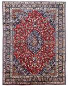 """HAND WOVEN SIGNED PERSIAN MASHAD RUG, 9'3"""" x 12'5"""""""