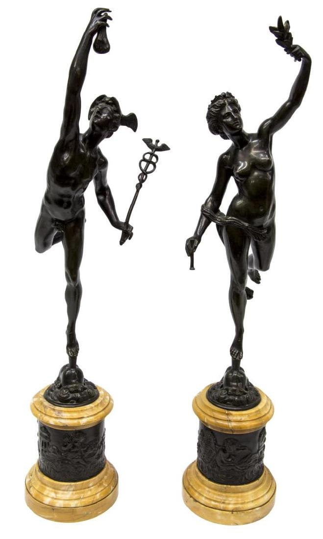 AFTER BOLOGNE & FULCONIS BRONZES,MERCURY & FORTUNA