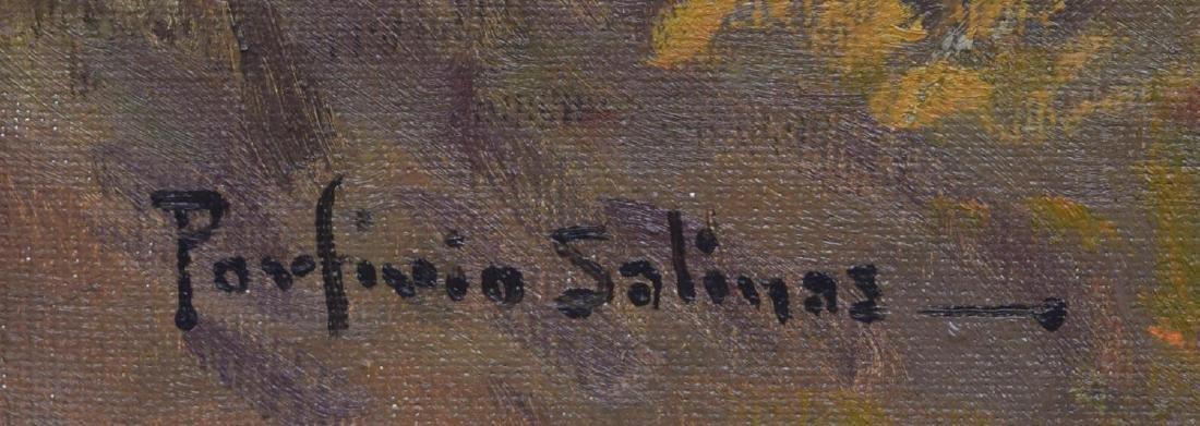 "PORFIRIO SALINAS (1910-1973) TEXAS FALL, 24"" x 36"" - 4"