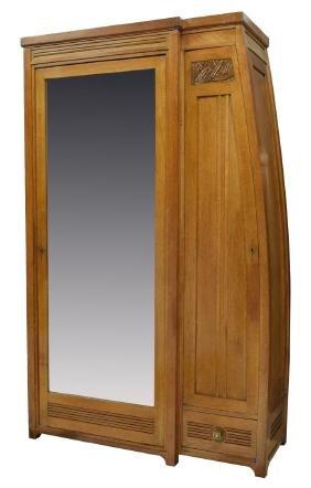 Carlo Zen(1851-1918) Art Nouveau Mirror Armoire