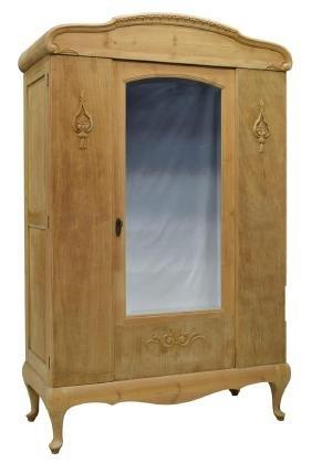 Scandinavian Pine Wood One-door Mirror Armoire
