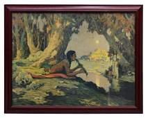 LITHO, EANGER IRVING COUSE (1866-1936), SERENADE