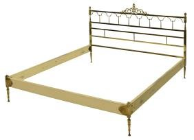 Italian Brass Bed In The Style Of Maison Bagues