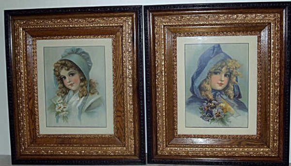 313: TWO CHILD PRINTS IN NEW FRAMES