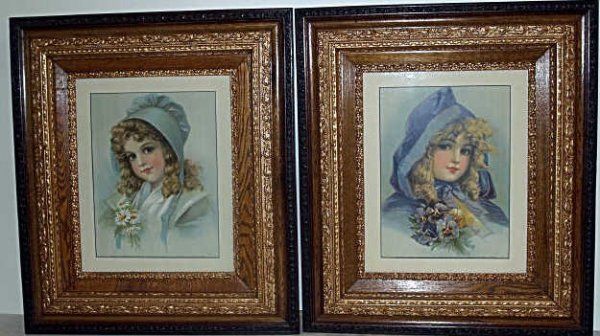 314: TWO CHILD PRINTS IN NEW FRAMES