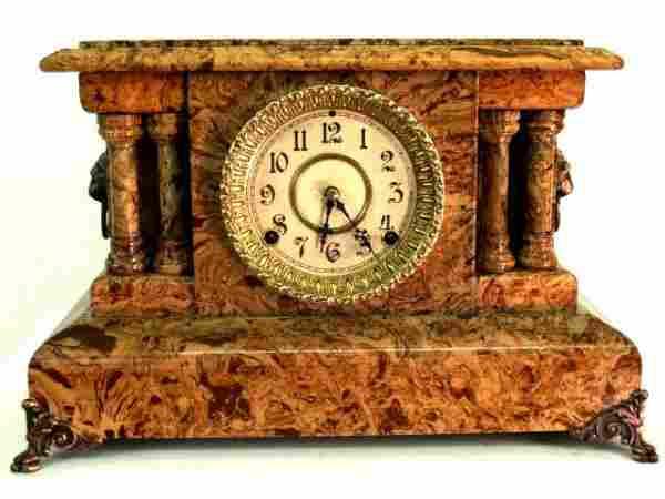 457: ANTIQUE SETH THOMAS MANTLE CLOCK RESTORED
