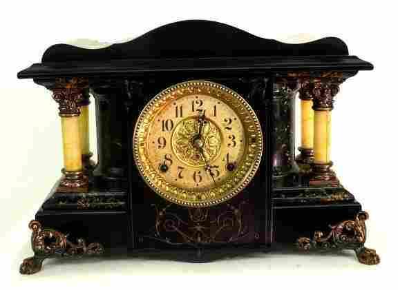 459: ANTIQUE SETH THOMAS MANTLE CLOCK RESTORED