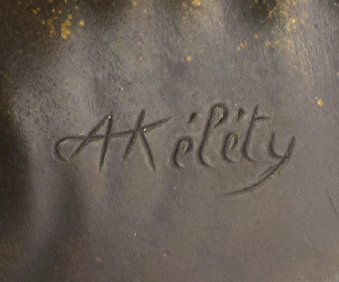 (2) ALEXANDRE KELETY(1918-1940) BRONZE BOOKENDS - 8