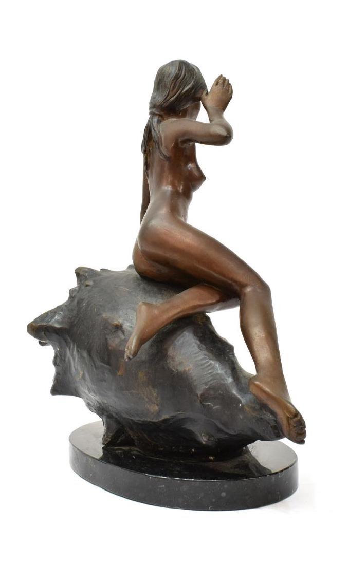 AFTER AUGUSTE MOREAU(1834-1917) BRONZE NUDE FIGURE - 6
