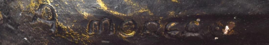 AFTER AUGUSTE MOREAU(1834-1917) BRONZE NUDE FIGURE - 7