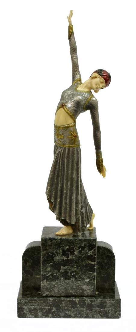 AFTER DEMETRE CHIPARUS (1886-1946) DECO FIGURE