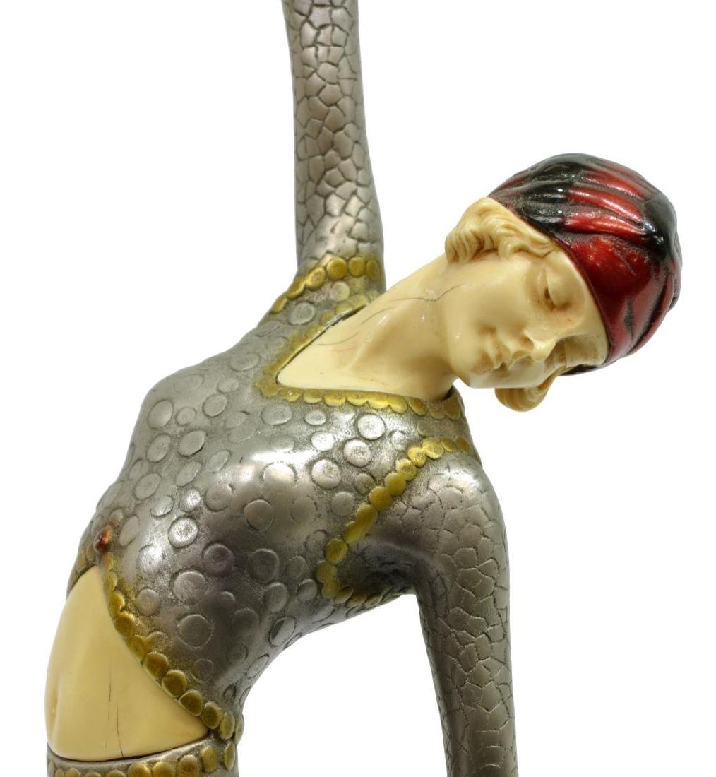 AFTER DEMETRE CHIPARUS (1886-1946) DECO FIGURE - 3