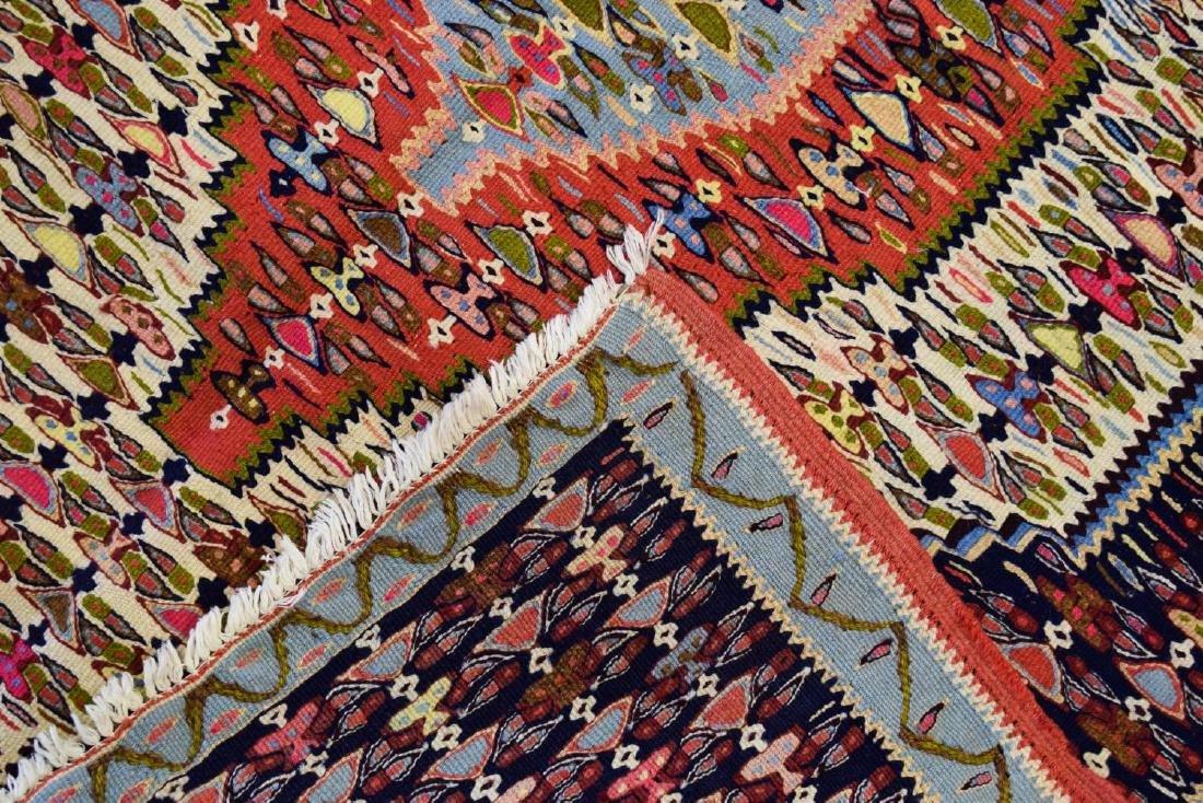"HAND-WOVEN PERSIAN SENNEH KILIM RUG, 3'9"" x 4'6"" - 2"