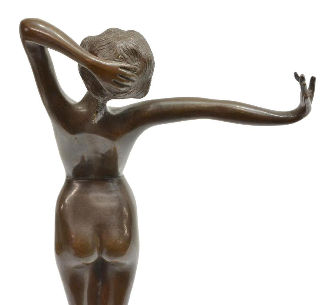 AFTER PAUL PHILIPPE(1870-1943)AWAKEING NUDE BRONZE - 5