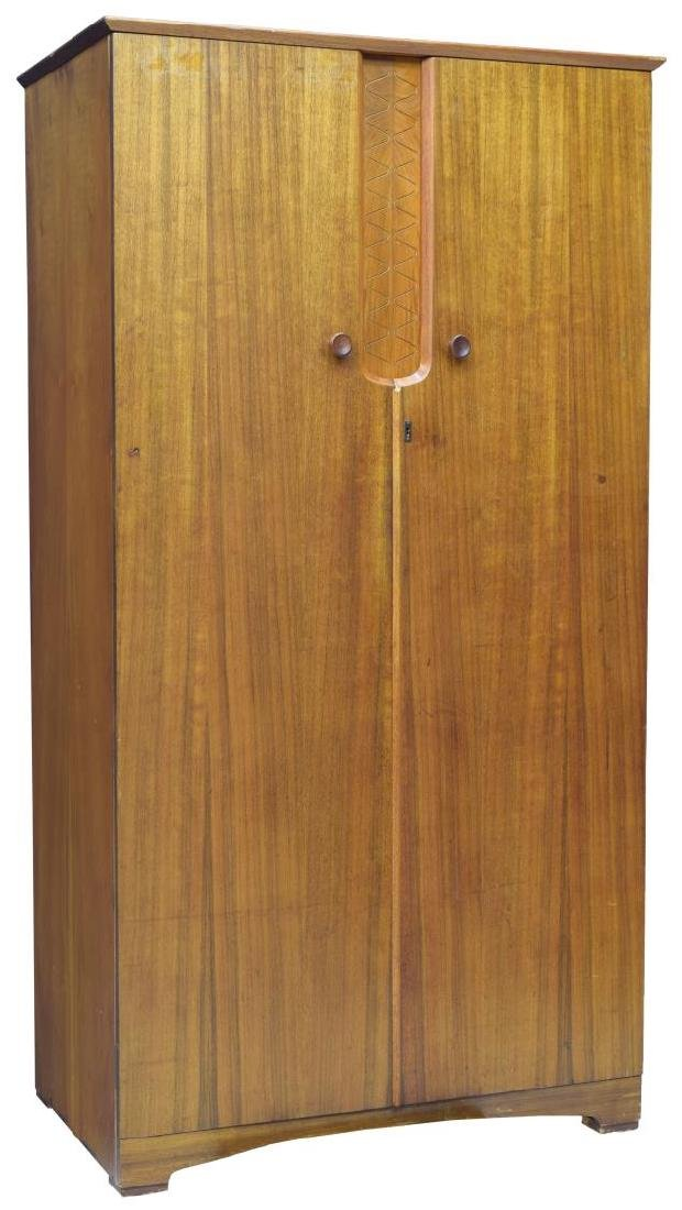 MID-CENTURY MODERN FITTED TEAKWOOD ARMOIRE