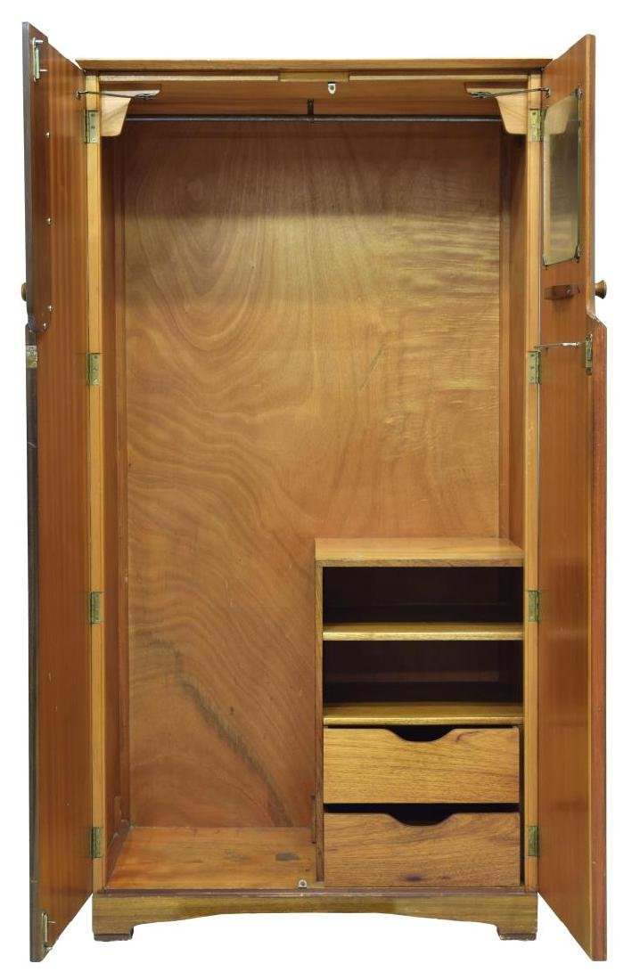 MID-CENTURY MODERN FITTED TEAKWOOD ARMOIRE - 2