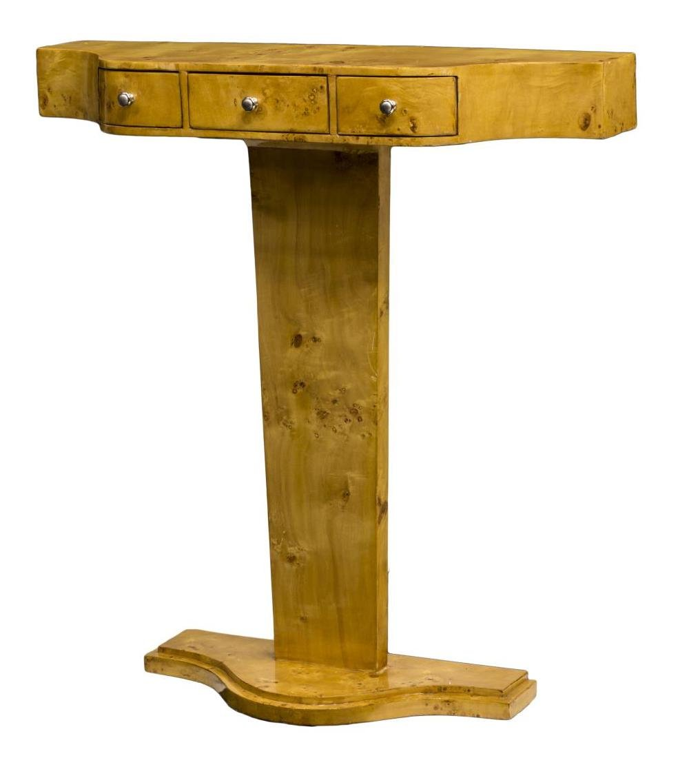 FRENCH ART DECO STYLE BIRDSEYE CONSOLE TABLE