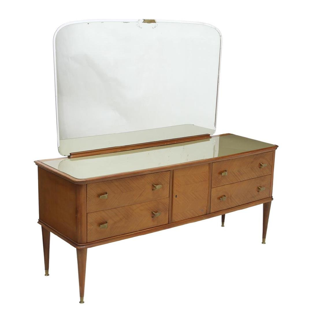 ITALIAN MID-CENTURY MODERN MIRRORED COMMODE