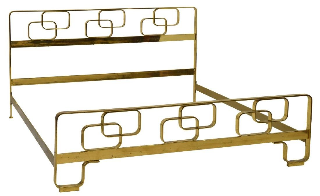 ITALIAN MID-CENTURY MODERN BRASS BED