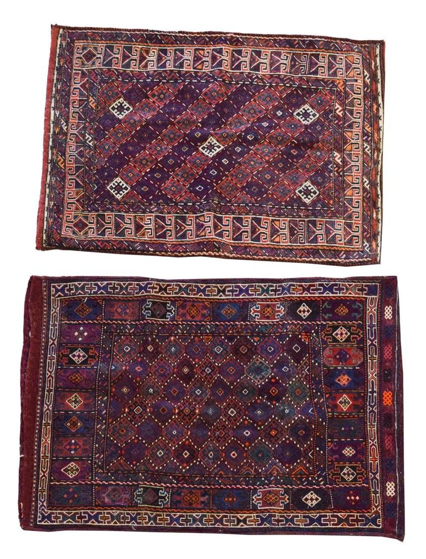 (2) HAND-WOVEN AFGHAN FLAT WEAVE TENT BAGS