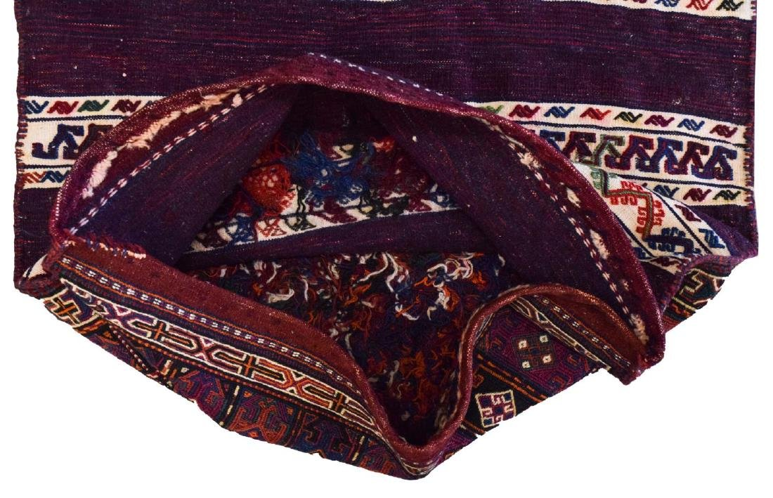 (2) HAND-WOVEN AFGHAN FLAT WEAVE TENT BAGS - 3