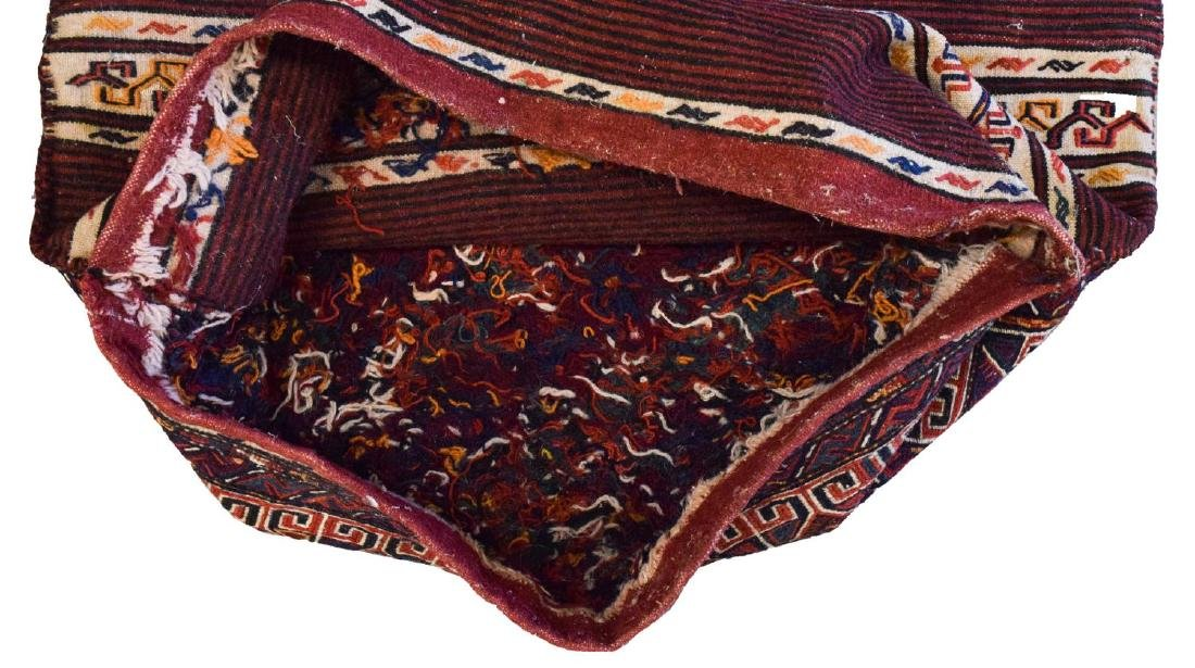 (2) HAND-WOVEN AFGHAN FLAT WEAVE TENT BAGS - 4