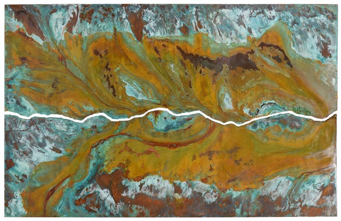 DARYL COLBURN (AUSTIN, 1954-2011) COPPER WALL ART