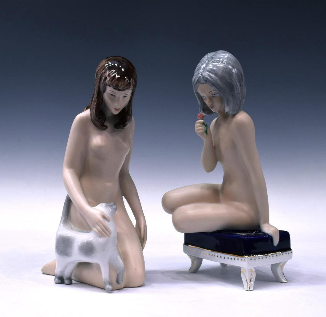 (3) ROYAL DUX PORCELAIN FIGURES, FEMALE NUDES - 5