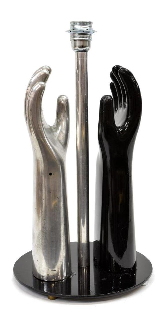 ITALIAN MODERN SIL LUX SCULPTURAL HANDS LAMP