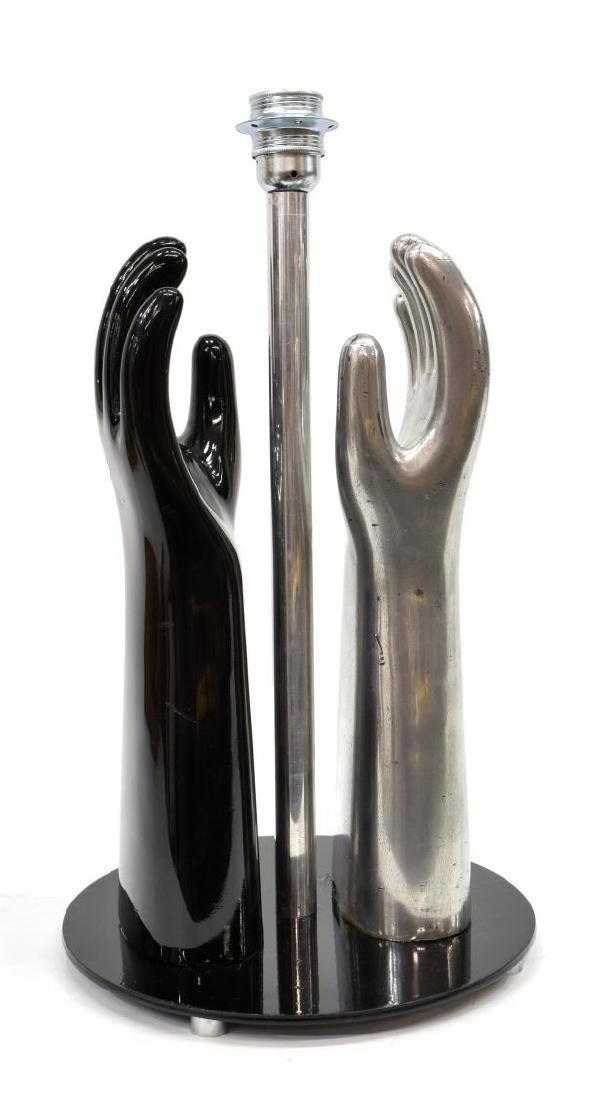 ITALIAN MODERN SIL LUX SCULPTURAL HANDS LAMP - 2